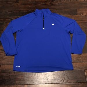 Russell Dri-power 360 half zip pullover size XL